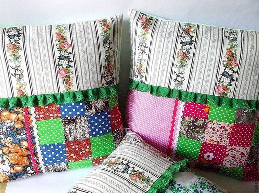 подушки декоративные наволочки на подушки лоскутное для интерьера для дома ручная работа для дома и дачи изделия ручной работы подушка в подарок уютный дом handmade уютный подарок думочки