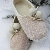 """Обувь ручной работы. Ярмарка Мастеров - ручная работа Тапы и Шлепки """" Помпон"""". Handmade."""