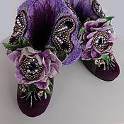 """Обувь ручной работы. Ярмарка Мастеров - ручная работа Валенки домашние """"Madam josеphine"""". Handmade."""