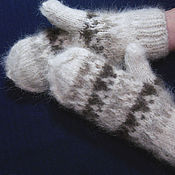 Аксессуары handmade. Livemaster - original item Women`s knitted mittens. Handmade.