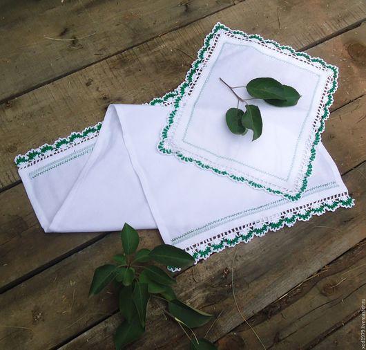 Кухня ручной работы. Ярмарка Мастеров - ручная работа. Купить Текстильный комплект для кухни. Handmade. Зеленый, полотенце, 80 на 35