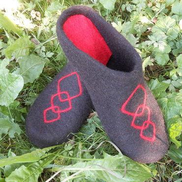 Обувь ручной работы. Ярмарка Мастеров - ручная работа Мужские тапки без пятки. Handmade.