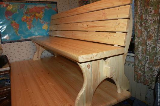 Мебель ручной работы. Ярмарка Мастеров - ручная работа. Купить Деревянная скамейка. Handmade. Дерево, кухонный стол, лак, скамейка