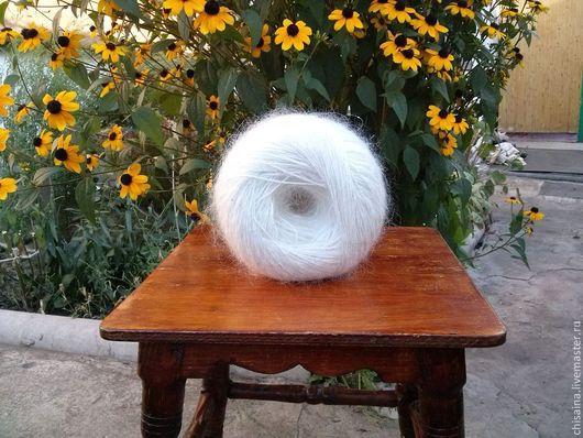 Вязание ручной работы. Ярмарка Мастеров - ручная работа. Купить Пряжа из козьего пуха белая. Handmade. Белый, пряжа для вязания