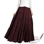 """Одежда ручной работы. Ярмарка Мастеров - ручная работа ярусная юбка ,,Магда"""". Handmade."""
