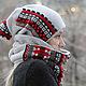 """Шапки ручной работы. Ярмарка Мастеров - ручная работа. Купить """"Не холодно!)))"""" Шапка+снуд. Handmade. Абстрактный, вязаная шапка и снуд"""
