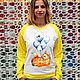 """Кофты и свитера ручной работы. Свитшот женский с авторским принтом  """"Лисичка"""". Painted Stuff. Интернет-магазин Ярмарка Мастеров. одежда"""