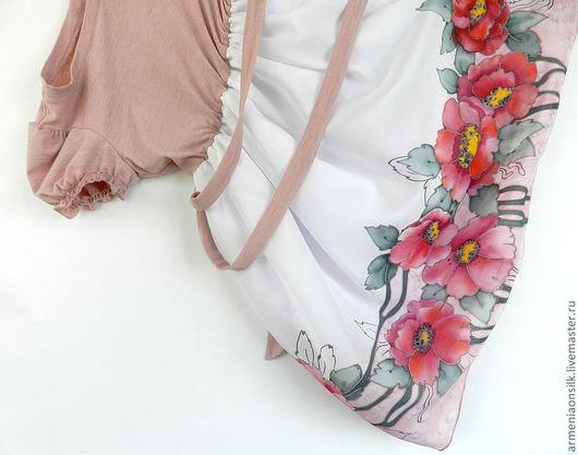 """Одежда для девочек, ручной работы. Ярмарка Мастеров - ручная работа. Купить Шелковое  платье """"Пыльная роза"""". Handmade. Розовый"""