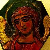 Картины и панно handmade. Livemaster - original item Angel  with Golden hair painted box. Handmade.