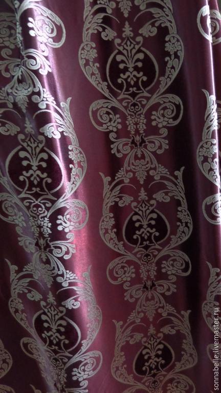 Шитье ручной работы. Ярмарка Мастеров - ручная работа. Купить Портьерная ткань для штор Классика Бордо. Handmade. Разноцветный