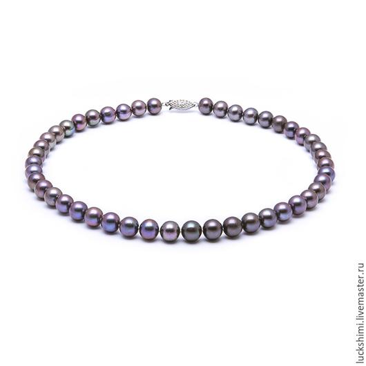 жемчужное ожерелье,  купить жемчужное ожерелье, ожерелье из жемчуга, черный жемчуг