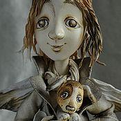 """Куклы и игрушки ручной работы. Ярмарка Мастеров - ручная работа """"Ангел с бродячей собакой"""". Handmade."""