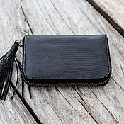 Сумки и аксессуары handmade. Livemaster - original item Wallet genuine leather lizard. Handmade.