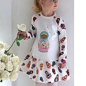 Работы для детей, ручной работы. Ярмарка Мастеров - ручная работа Платье Матрешка. Handmade.
