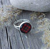 Украшения handmade. Livemaster - original item Ring silvered Cage red. Handmade.