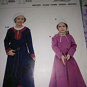 Выкройки для шитья ручной работы. Ярмарка Мастеров - ручная работа Выкройка карнавального костюма для девочки, средневековое платье. Handmade.