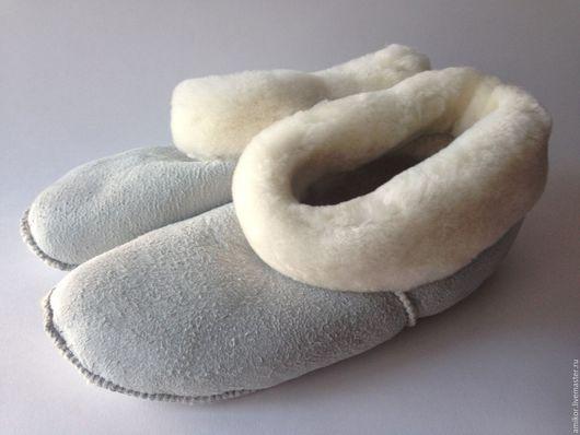 Обувь ручной работы. Ярмарка Мастеров - ручная работа. Купить Чуни без подошвы носочками. Handmade. Белый, мутон