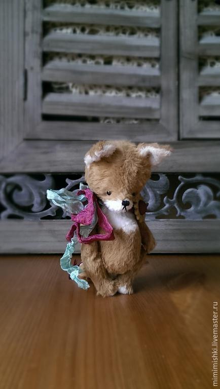 Мишки Тедди ручной работы. Ярмарка Мастеров - ручная работа. Купить лисёнок Тео (12 см). Handmade. Рыжий, лис