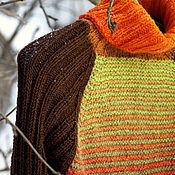 Одежда ручной работы. Ярмарка Мастеров - ручная работа Свитер Оранжевое солнце. Handmade.