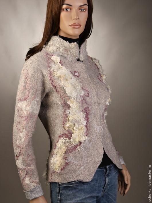 """Пиджаки, жакеты ручной работы. Ярмарка Мастеров - ручная работа. Купить Жакет ручной работы из шерсти """"Серая роза"""". Handmade."""