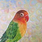 Pictures handmade. Livemaster - original item The Picture Parrot Lovebird. Handmade.