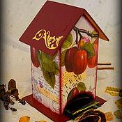 """Для дома и интерьера ручной работы. Ярмарка Мастеров - ручная работа Чайный домик """"Яркая слива"""". Handmade."""