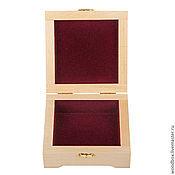 Материалы для творчества handmade. Livemaster - original item 13135F casket with velvet 13 13 5 SMOD finish.. Handmade.