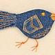 Броши ручной работы. Брошь текстильная (джинсовая).Синяя птица Запасливая). Nонa Тiтаrенkо. Интернет-магазин Ярмарка Мастеров.