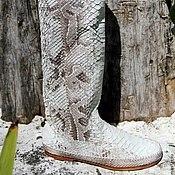 Обувь ручной работы handmade. Livemaster - original item Boots genuine Python leather . Economie boots. Handmade.