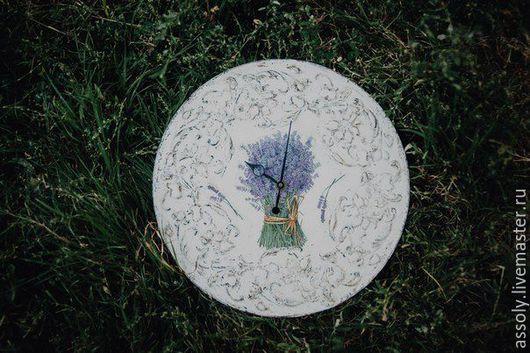 Часы для дома ручной работы. Ярмарка Мастеров - ручная работа. Купить Лавандовое вдохновение. Handmade. Часы настенные, часы для дома