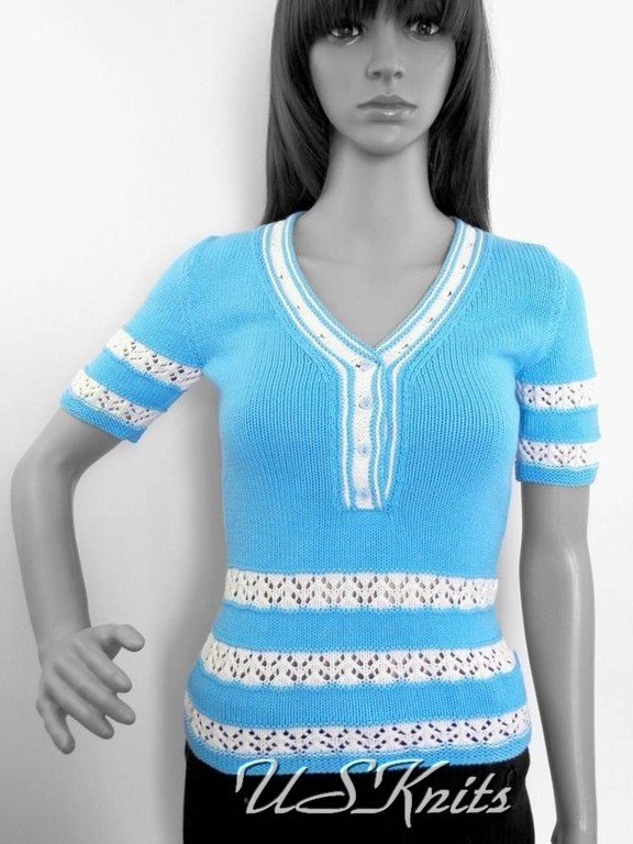Knitted women's jacket `Polo` Style of the 50's