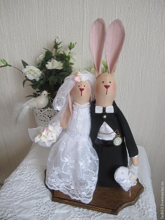 Куклы Тильды ручной работы. Ярмарка Мастеров - ручная работа. Купить Свадебные зайцы- неразлучники в стиле Тильда. Handmade. тильда