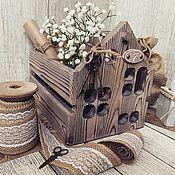 Для дома и интерьера handmade. Livemaster - original item Box House at number 7. Box decoupage. Handmade.