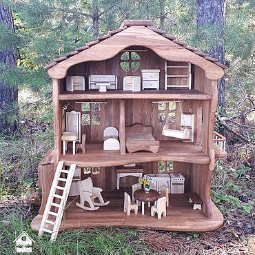 Куклы и игрушки ручной работы. Ярмарка Мастеров - ручная работа Кукольный домик Итальянский из дуба. Handmade.