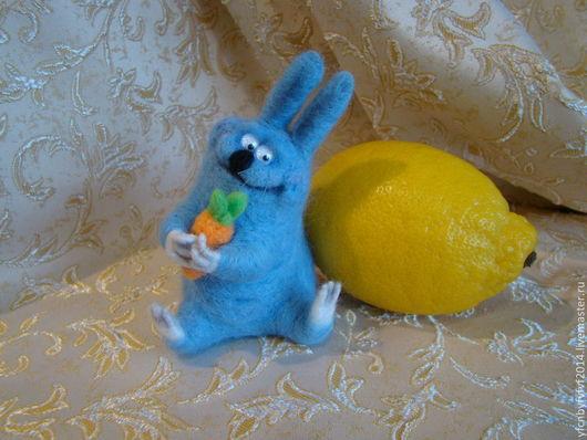 Игрушки животные, ручной работы. Ярмарка Мастеров - ручная работа. Купить Хорошего зайца должно быть много. Handmade. Голубой