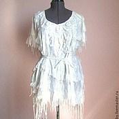 Одежда ручной работы. Ярмарка Мастеров - ручная работа Платье белое. Летний войлок.. Handmade.