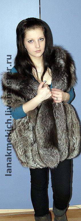Vests handmade. Livemaster - handmade. Buy Fur vest from the silver Fox 'Silver soft'.Fur vest