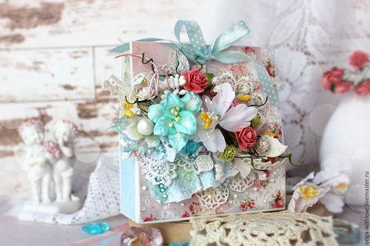 Персональные подарки ручной работы. Ярмарка Мастеров - ручная работа. Купить Декоративная мини-сумочка для подарка. Handmade. Голубой