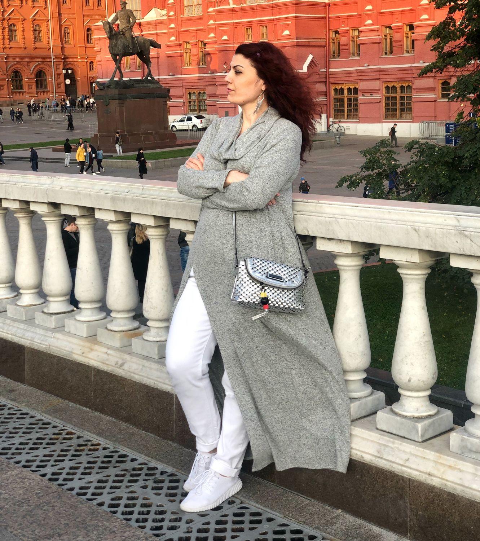 Трикотажное платье оверсайз -серый меланж, Платья, Москва,  Фото №1