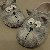 """Обувь ручной работы. Ярмарка Мастеров - ручная работа Тапки """"Котики"""". Handmade."""
