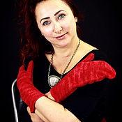 Аксессуары ручной работы. Ярмарка Мастеров - ручная работа варежки красные, варежки валяные, варежки из шерсти. Handmade.