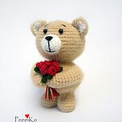 Куклы и игрушки ручной работы. Ярмарка Мастеров - ручная работа Романтичный мишка. Handmade.