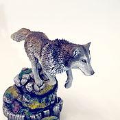 Для дома и интерьера ручной работы. Ярмарка Мастеров - ручная работа Русский волк интерьерное украшение статуэтка. Handmade.