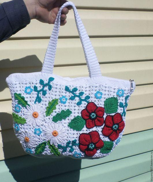 Женские сумки ручной работы. Ярмарка Мастеров - ручная работа. Купить вязаная сумка. Handmade. Цветочный, сумочка, сумка женская