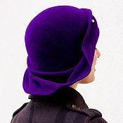 Аксессуары ручной работы. Ярмарка Мастеров - ручная работа Шляпа клош «фиолет». Handmade.