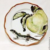 Посуда handmade. Livemaster - original item Painted porcelain Plate porcelain
