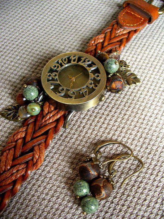 Часы ручной работы. Ярмарка Мастеров - ручная работа. Купить Часы (+подарок) Рыжий винтаж комплект украшений. Handmade.