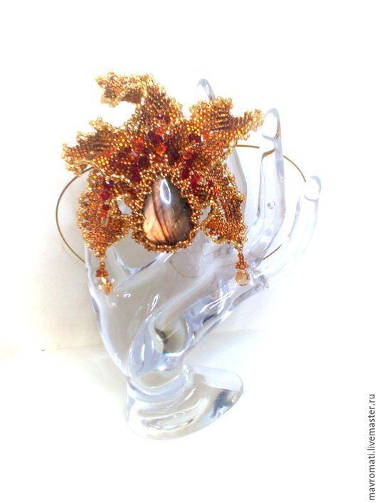 """Кулоны, подвески ручной работы. Ярмарка Мастеров - ручная работа. Купить Подвеска  """"Бронзовая орхидея """". Handmade. Орхидея цимбидиум"""