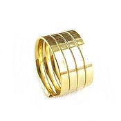 Украшения handmade. Livemaster - original item Gold wide ring without stones