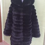 Одежда handmade. Livemaster - original item Fur coat made of Fox fur with a hood transformer. Handmade.